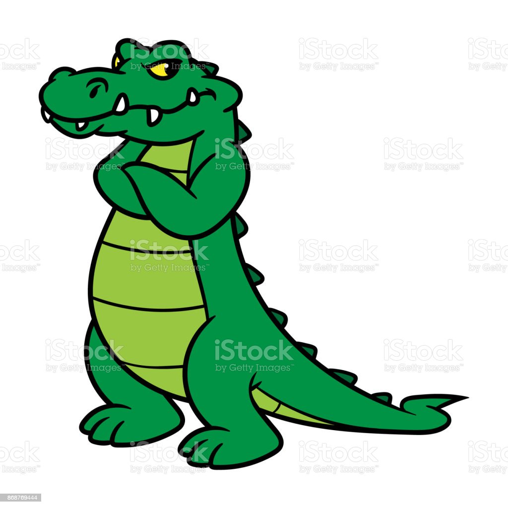 Cartoon Alligator vector art illustration