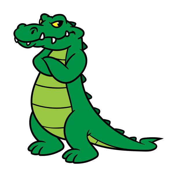 Royalty Free Alligator Swamp Cartoon Vector Clip Art ...