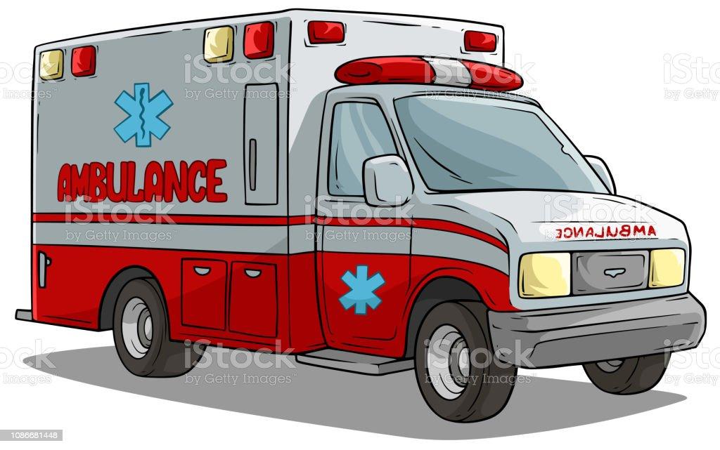 Dessin Anime Ambulance Durgence Voiture Ou Camion Vecteurs Libres De Droits Et Plus D Images Vectorielles De Accident De La Route Istock