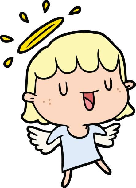 cartoon angel vector art illustration