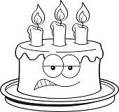 Doğum Günü Pastası Stok Vektör Sanatı Animasyon Karakternin Daha
