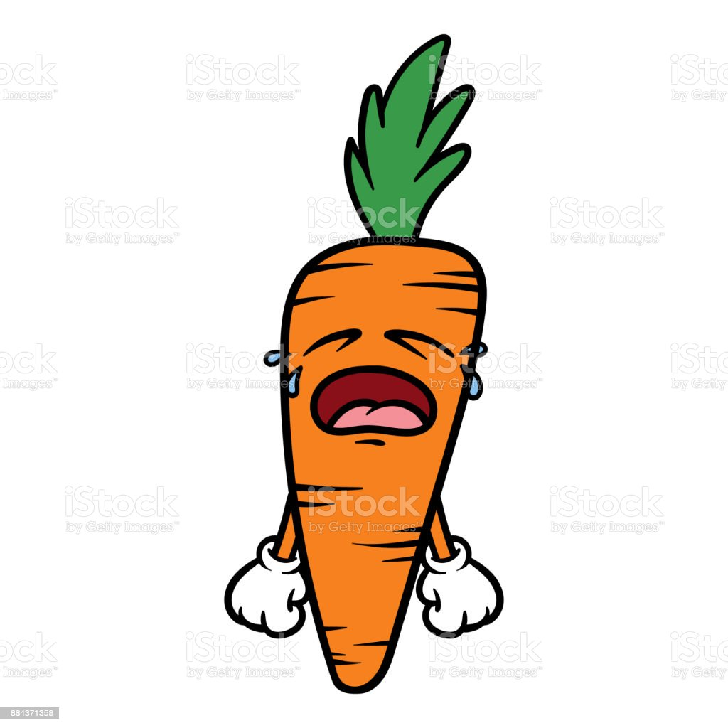 cartoon angry carrot character stock vector art more images of