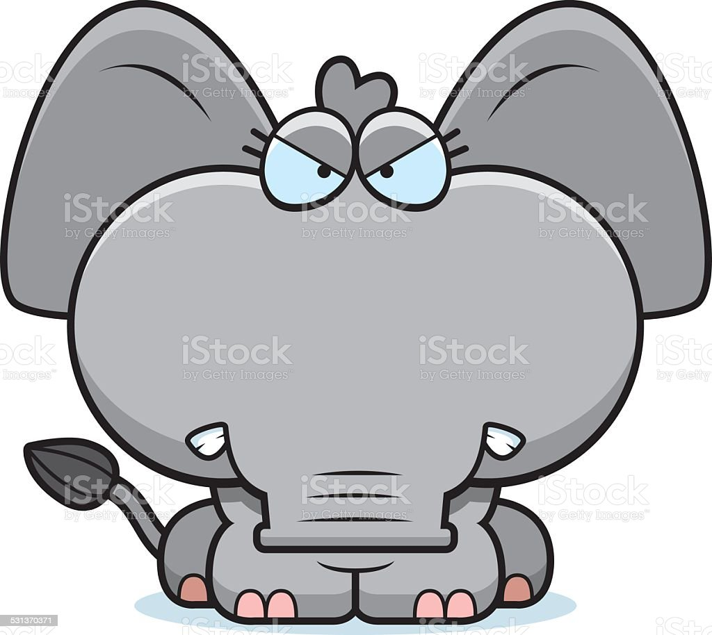 cartoon angry elephant stock vector art 531370371 istock