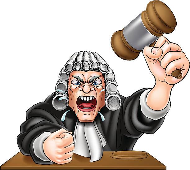 cartoon angry judge - old man crying clip art stock illustrations, clip art, cartoons, & icons
