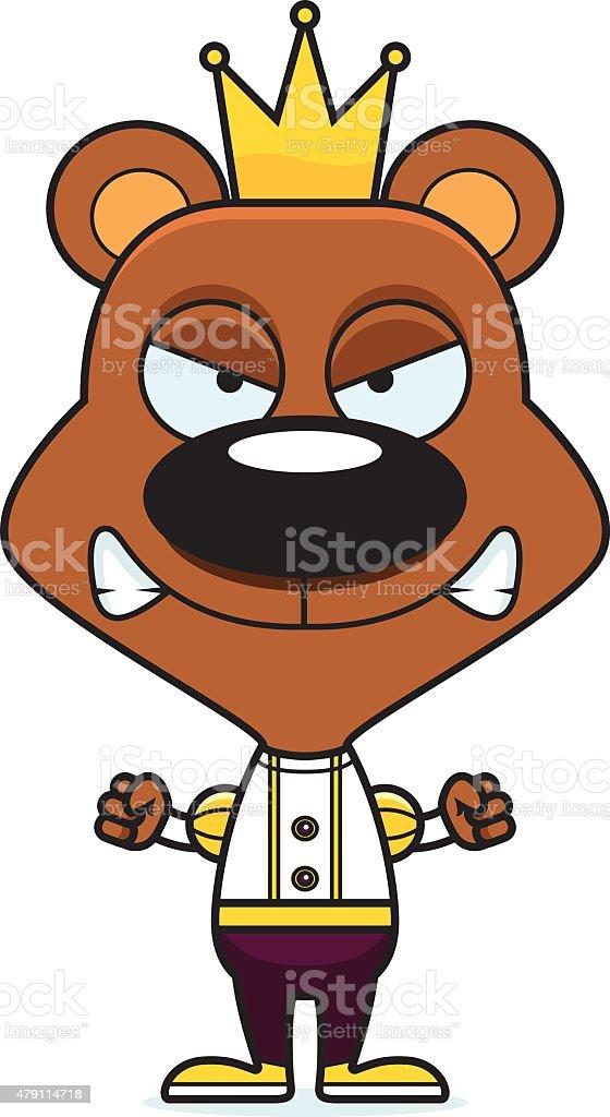 Vetores De Principe Irritada Dos Desenhos Animados Urso E Mais