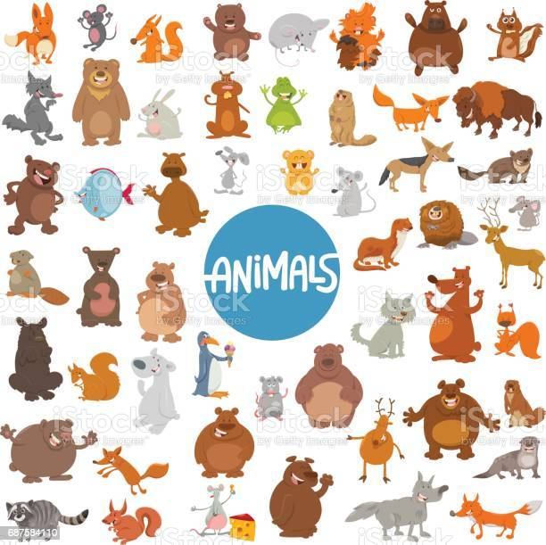 Cartoon animal characters huge set vector id687584110?b=1&k=6&m=687584110&s=612x612&h=vnlmsxfvvwhfojhvytwvgrl4idlpbqlkpjcqyyml ru=