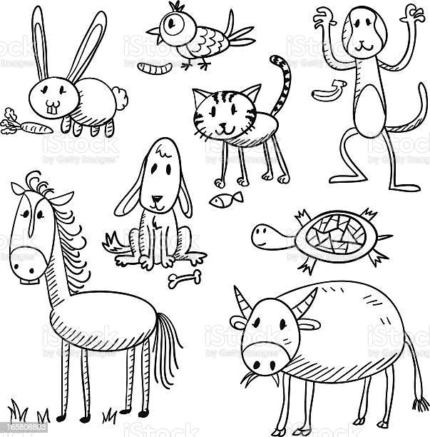 Cartoon animal characters in black and white vector id165806803?b=1&k=6&m=165806803&s=612x612&h=tythsj0j93xp4 x0k70gg42gedj9c5pzhz3yngrspiq=