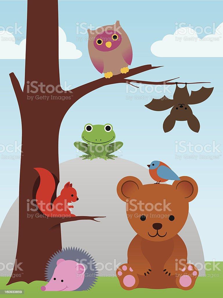 Cartoon animal collection vector art illustration