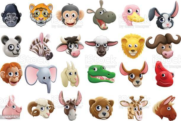 Cartoon animal faces icon set vector id656301520?b=1&k=6&m=656301520&s=612x612&h=48348qzawuiiv he2qvuq6aycm5vdxuerhnmb0naevy=