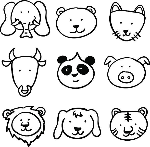 Black And White Lion Illustrations, Royalty-Free Vector ...