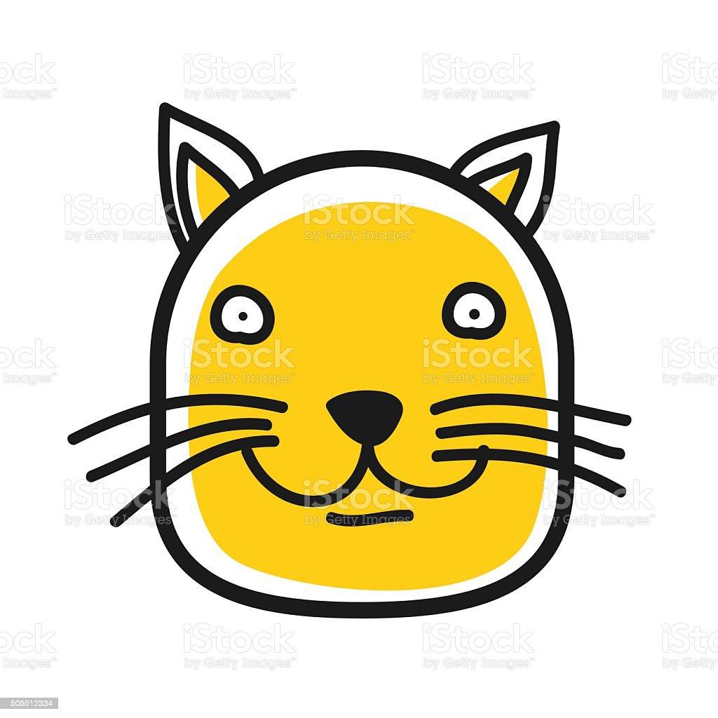 Dessin Chat De Profil icône tête animaux de dessin animé tête de chat avatar de profil