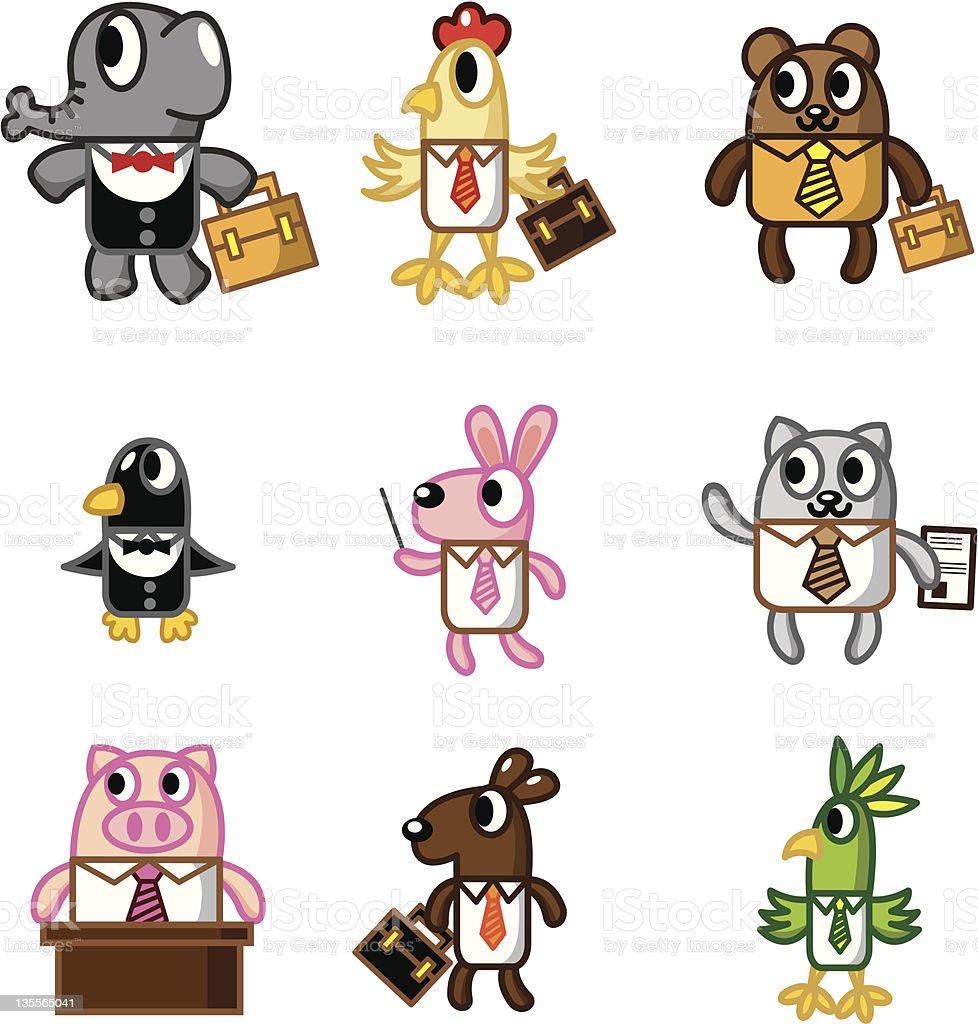 cartoon animal office worker royalty-free stock vector art