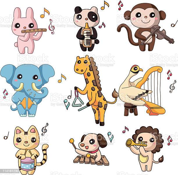 Cartoon animal play music icon vector id114161230?b=1&k=6&m=114161230&s=612x612&h=1yymnanlq65d53nxqxuoud9ruvzze31b qouslvssde=