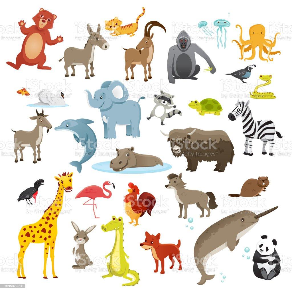 Collection de bandes dessinées animaux - Illustration vectorielle