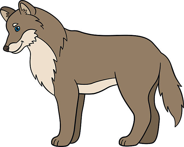 Royalty Free Wolf With Cubs Clip Art, Vector Images ... - photo#39