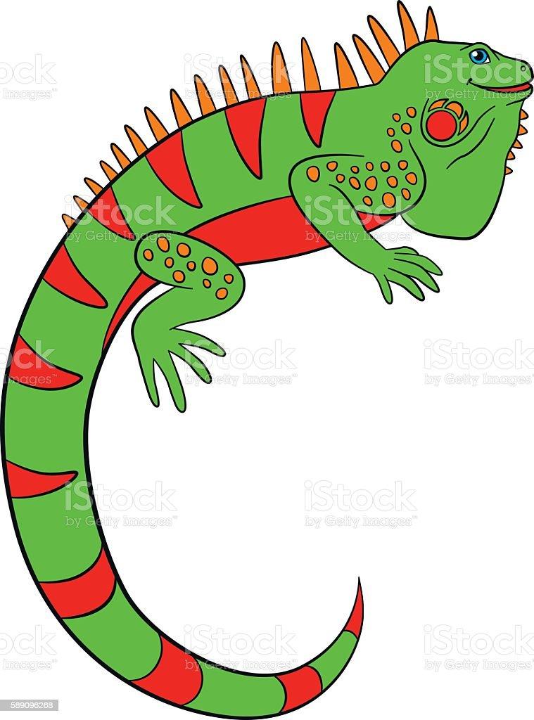royalty free iguana clipart clip art vector images illustrations rh istockphoto com iguana clipart png iguana cliparty