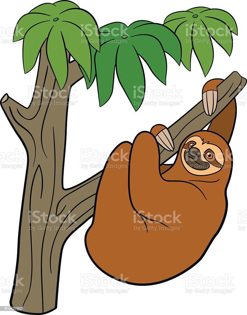 royalty free baby sloth clip art vector images illustrations istock rh istockphoto com sloth clipart cute sloth clipart cute