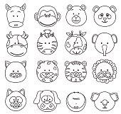 cartoon animals faces