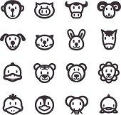 Cartoon Animals Icons - Acme Series