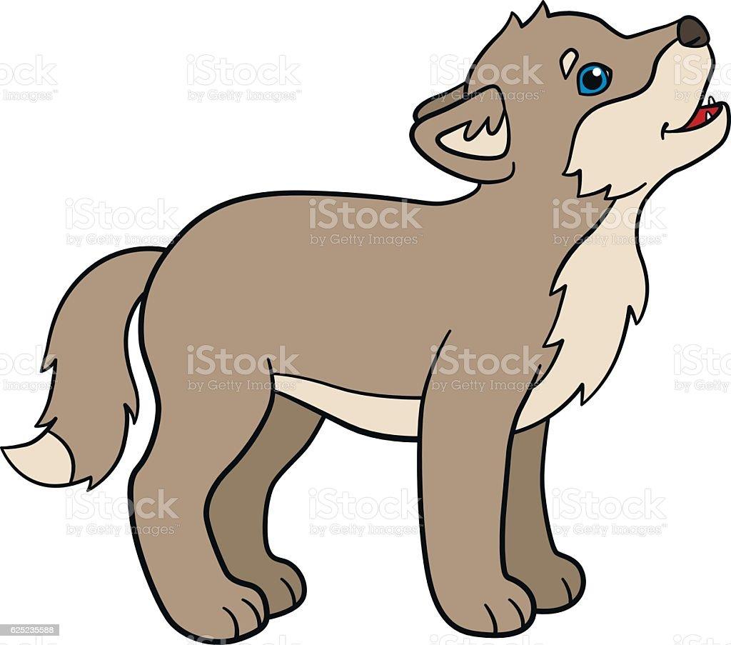 Uncategorized Cartoon Baby Wolf cartoon animals little cute baby wolf howls stock vector art royalty free art