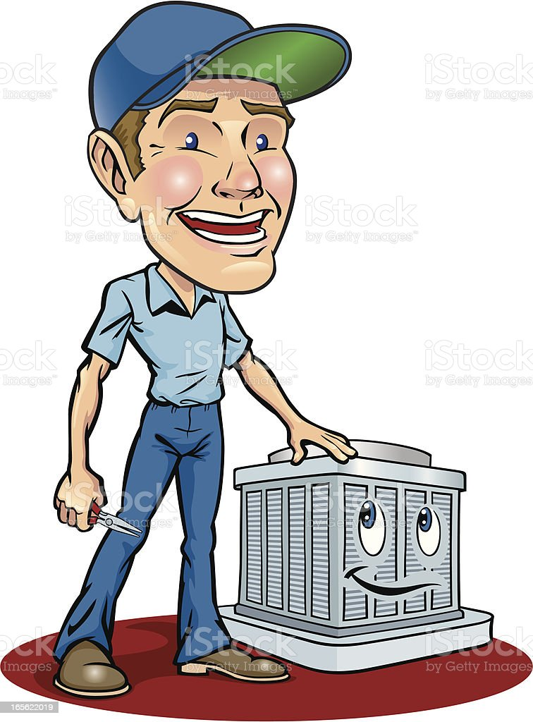 Cartoon animation of serviceman fixing air conditioning unit royalty-free cartoon animation of serviceman fixing air conditioning unit stock vector art & more images of adult
