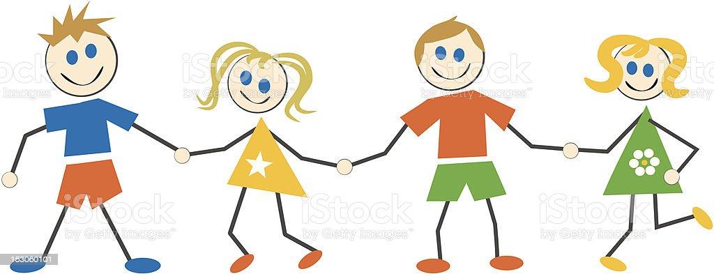 Happy Kids - Illustration vectorielle
