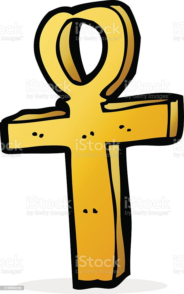 Cartoon Ankh Symbol Stock Vector Art More Images Of Ankh 516690266