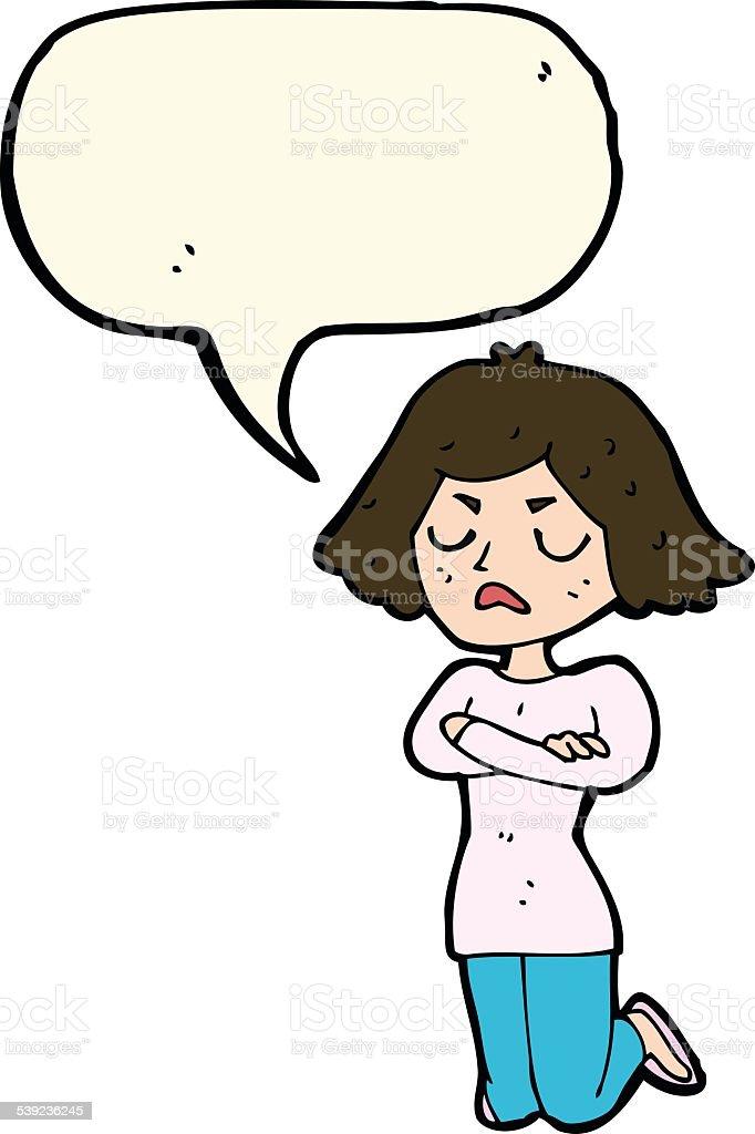 Mujer de historieta molesta con burbuja de discurso ilustración de mujer de historieta molesta con burbuja de discurso y más banco de imágenes de adulto libre de derechos