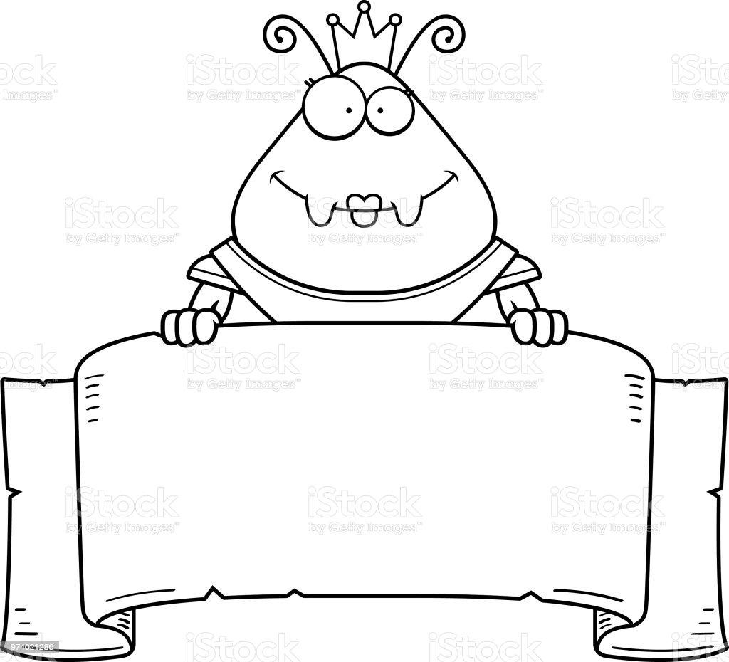 Ilustración de Dibujos Animados Hormiga Reina Armadura Banner y más ...