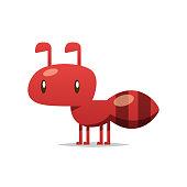 Cartoon ant vector isolated illustration