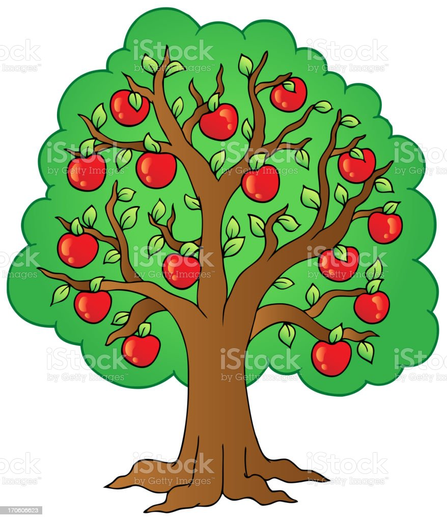 Cartoon Apple Tree Stock Vector Art & More Images of Agriculture ...