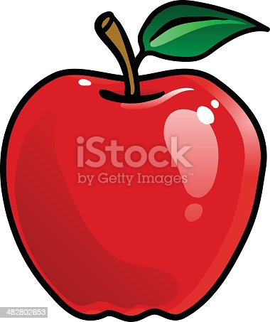 istock Cartoon Apple 482802653