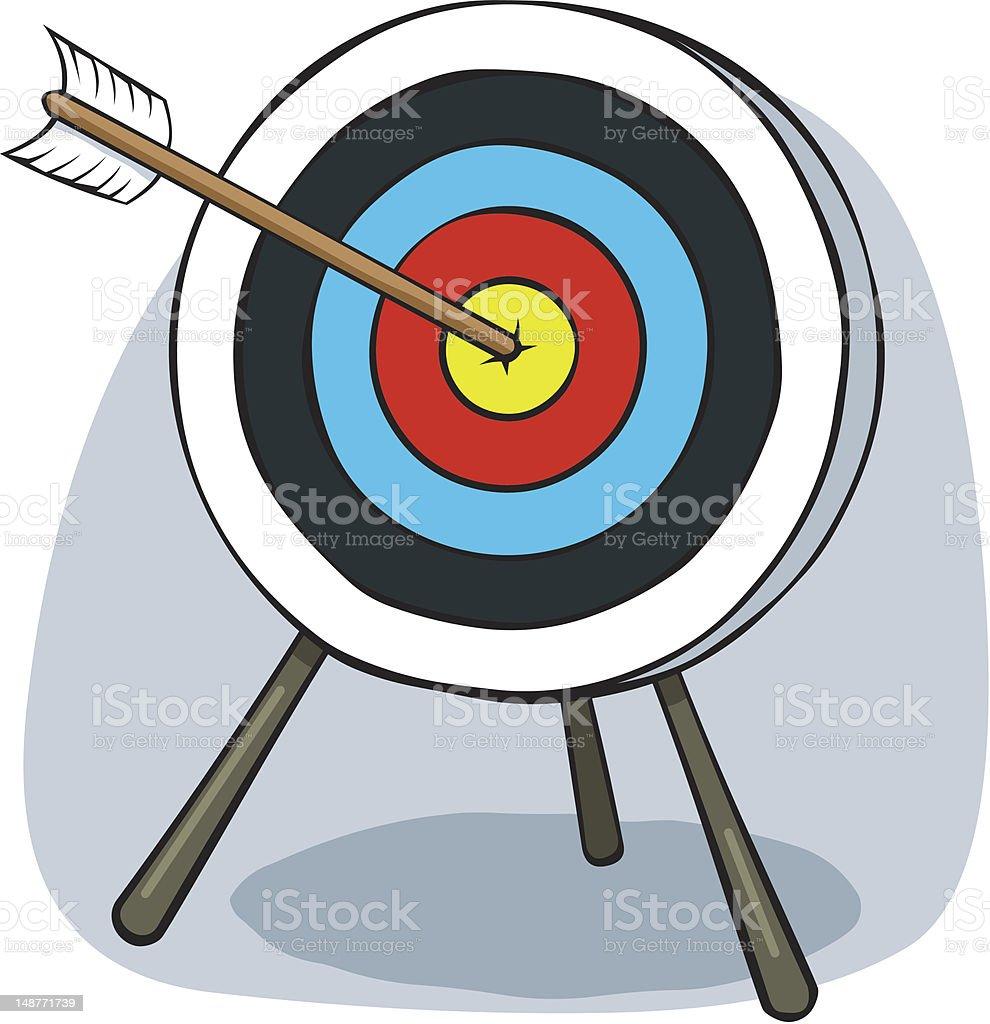 cartoon archery target stock vector art 148771739 istock