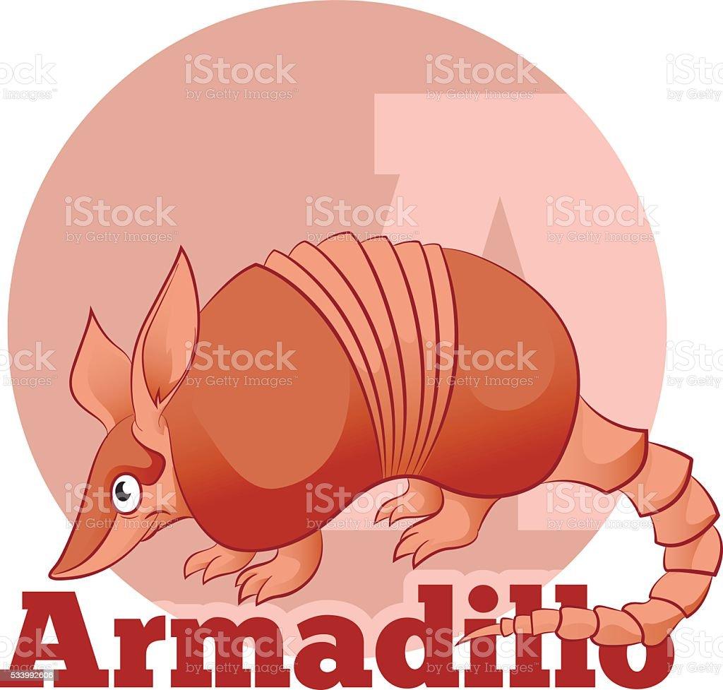 ABC Cartoon Armadillo2 vector art illustration