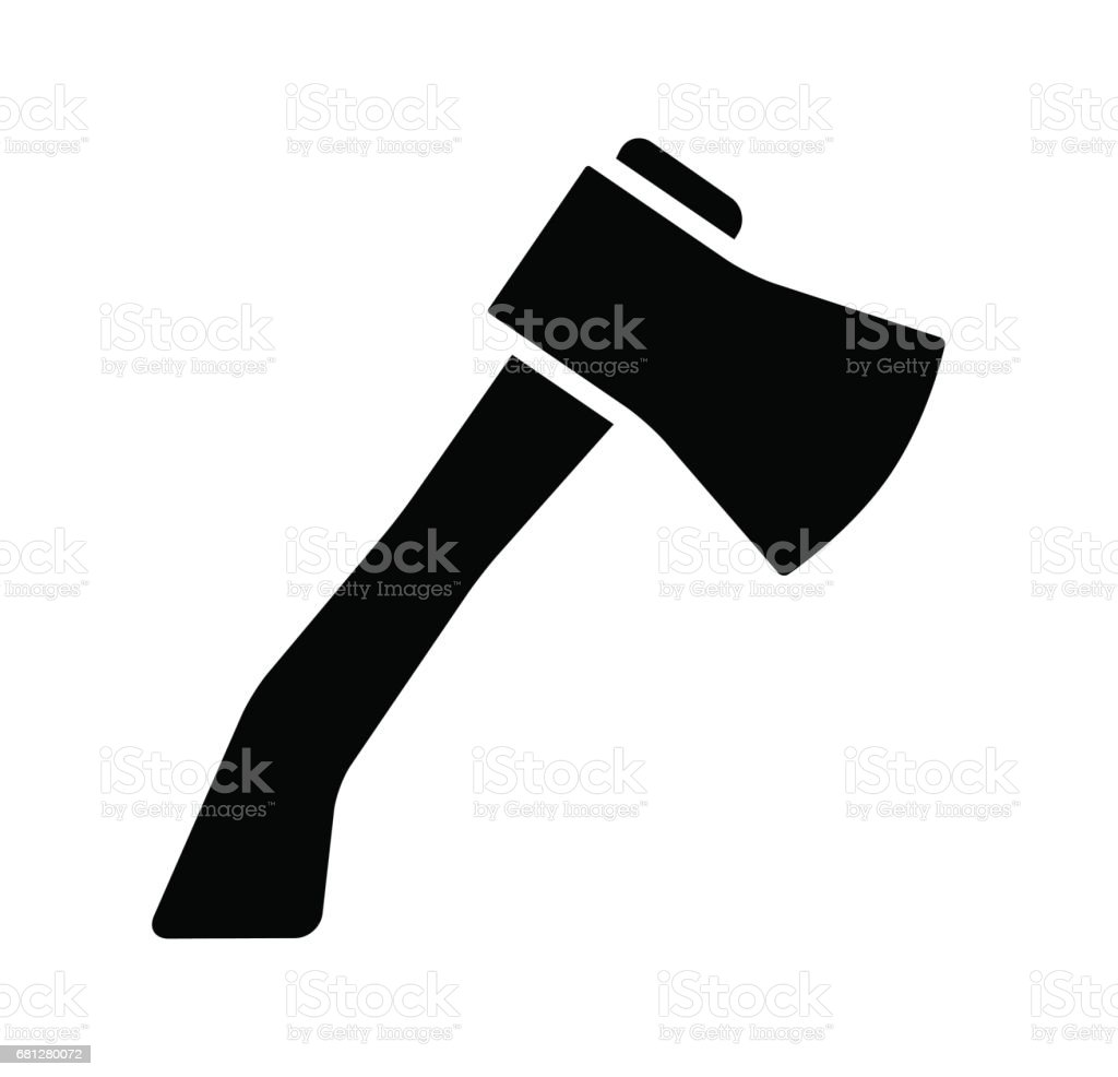 cartoon ax, hatchet silhouette vector symbol icon design. royalty-free cartoon ax hatchet silhouette vector symbol icon design stock vector art & more images of axe