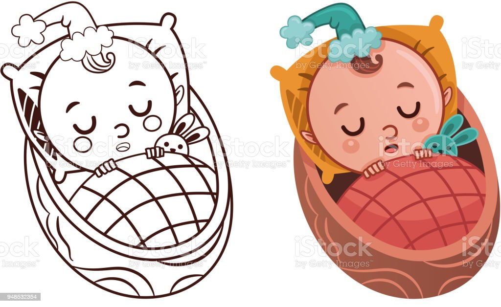 Cartoon Baby Gnome character vector art illustration