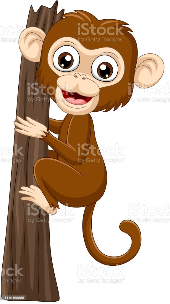 Cartoon Baby Monkey Climbing Tree Branch Stock Illustration Download Image Now Istock Download 370+ royalty free cartoon hanging monkey tree vector images. cartoon baby monkey climbing tree branch stock illustration download image now istock