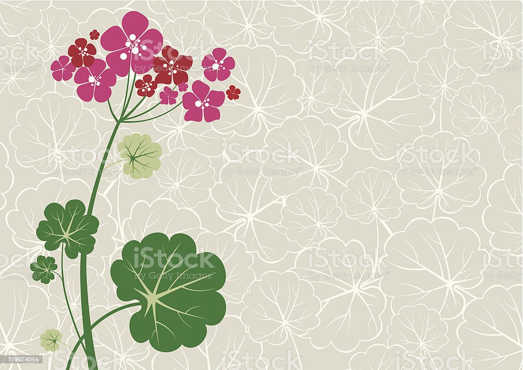 A cartoon background of a geranium with a leafy backdrop royalty-free a cartoon background of a geranium with a leafy backdrop stock vector art & more images of abstract