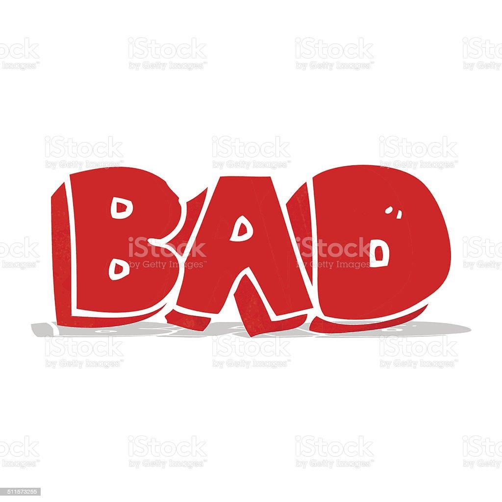 ... Cartoon Bad Sign Vector Art Illustration ...