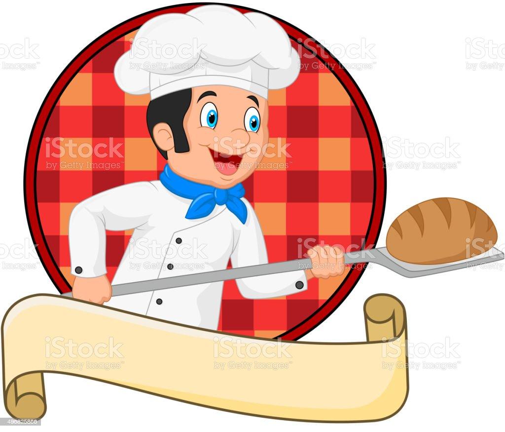 Dessin De Baker Tenant Un Outil De Pain Boulangerie Peel Cliparts