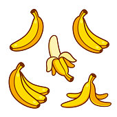 A bunch of bananas. Clipping path included.