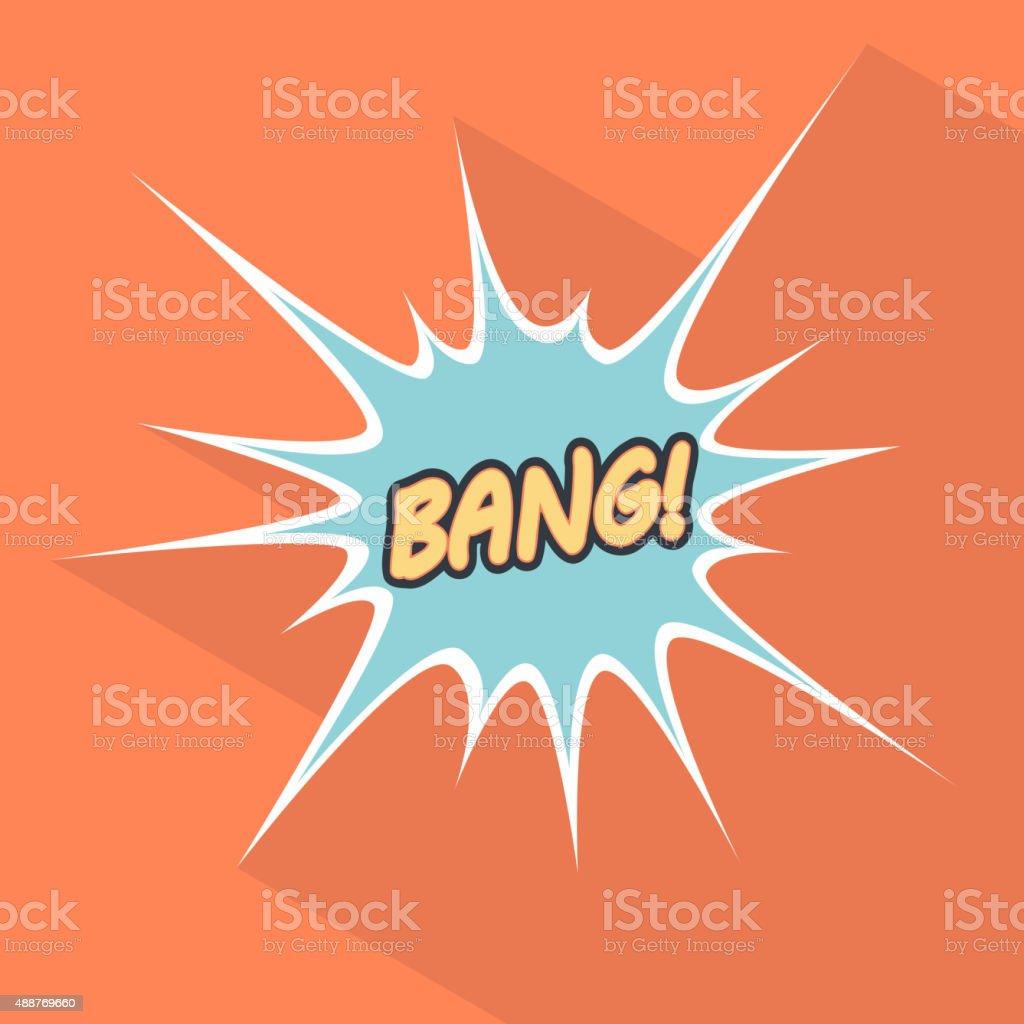 Cartoon bang. Design element for the site. Vector illustration vector art illustration