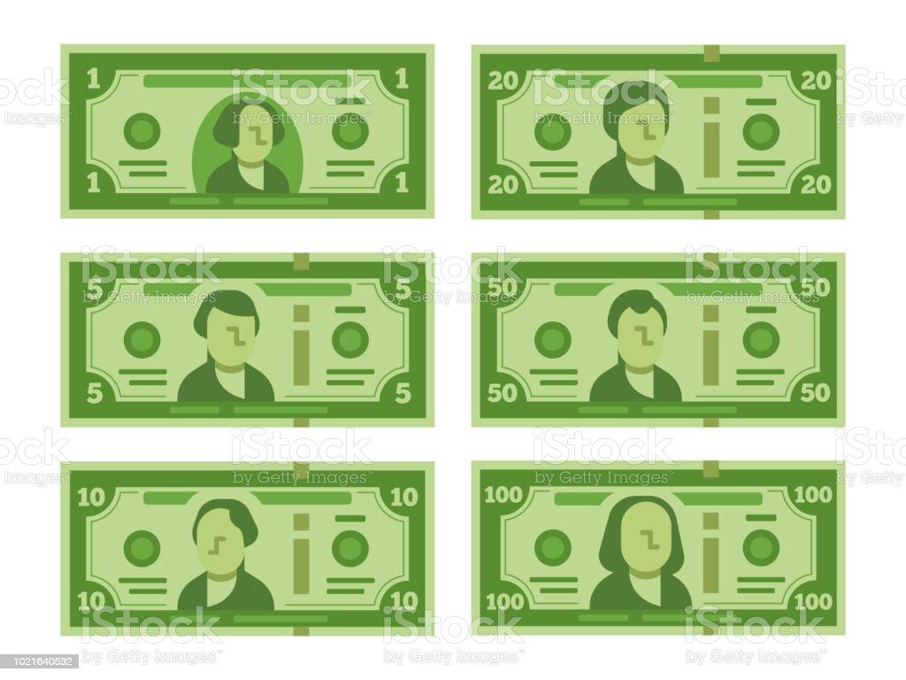 紙幣を漫画します。ドル現金紙幣や 100 ドル紙幣の様式化されたベクトル フラット図 ロイヤリティフリー紙幣を漫画しますドル現金紙幣や 100 ドル紙幣の様式化されたベクトル フラット図 - アイコンのベクターアート素材や画像を多数ご用意