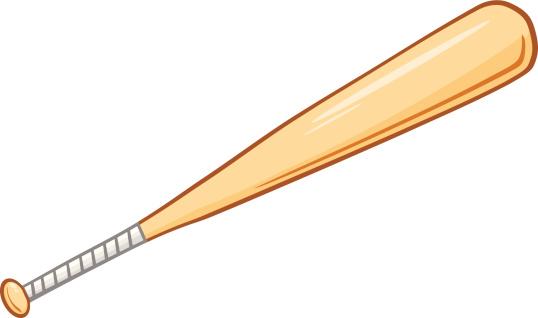 Cartoon Baseball Bat Stock Illustration - Download Image ...