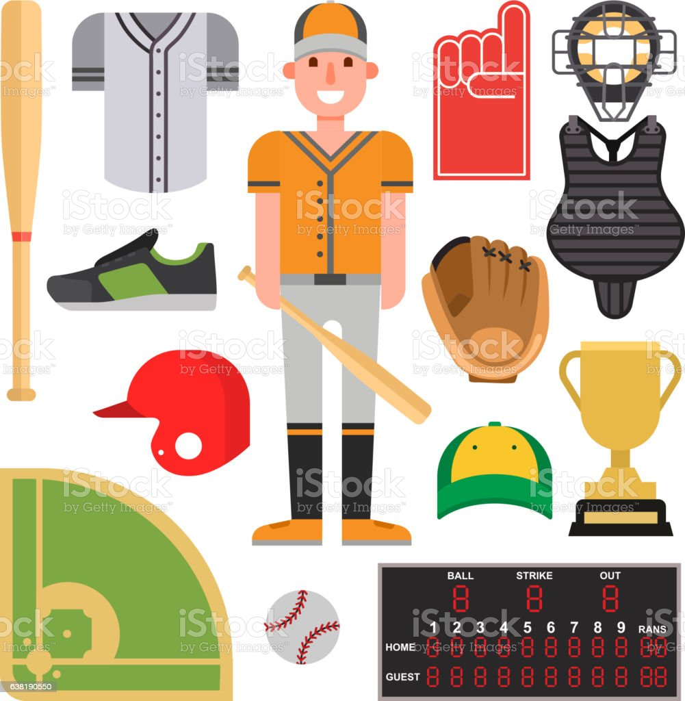 Cartoon baseball player icons batting vector royalty-free cartoon baseball player icons batting vector stock illustration - download image now