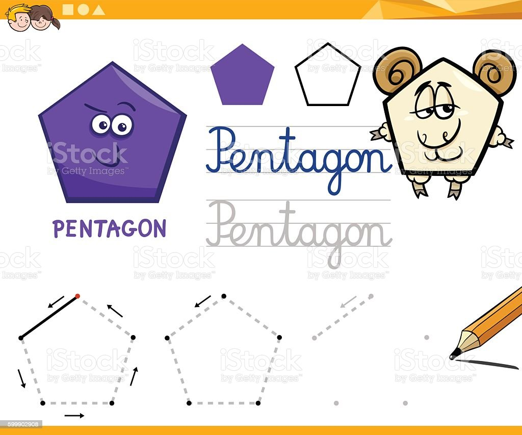cartoon basic geometric shapes vector art illustration
