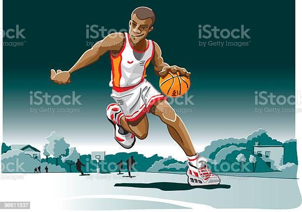 Cartoon Basketball Player-vektorgrafik och fler bilder på Balans