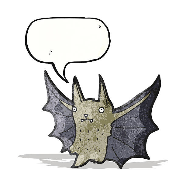 comic bat - megabat stock-grafiken, -clipart, -cartoons und -symbole