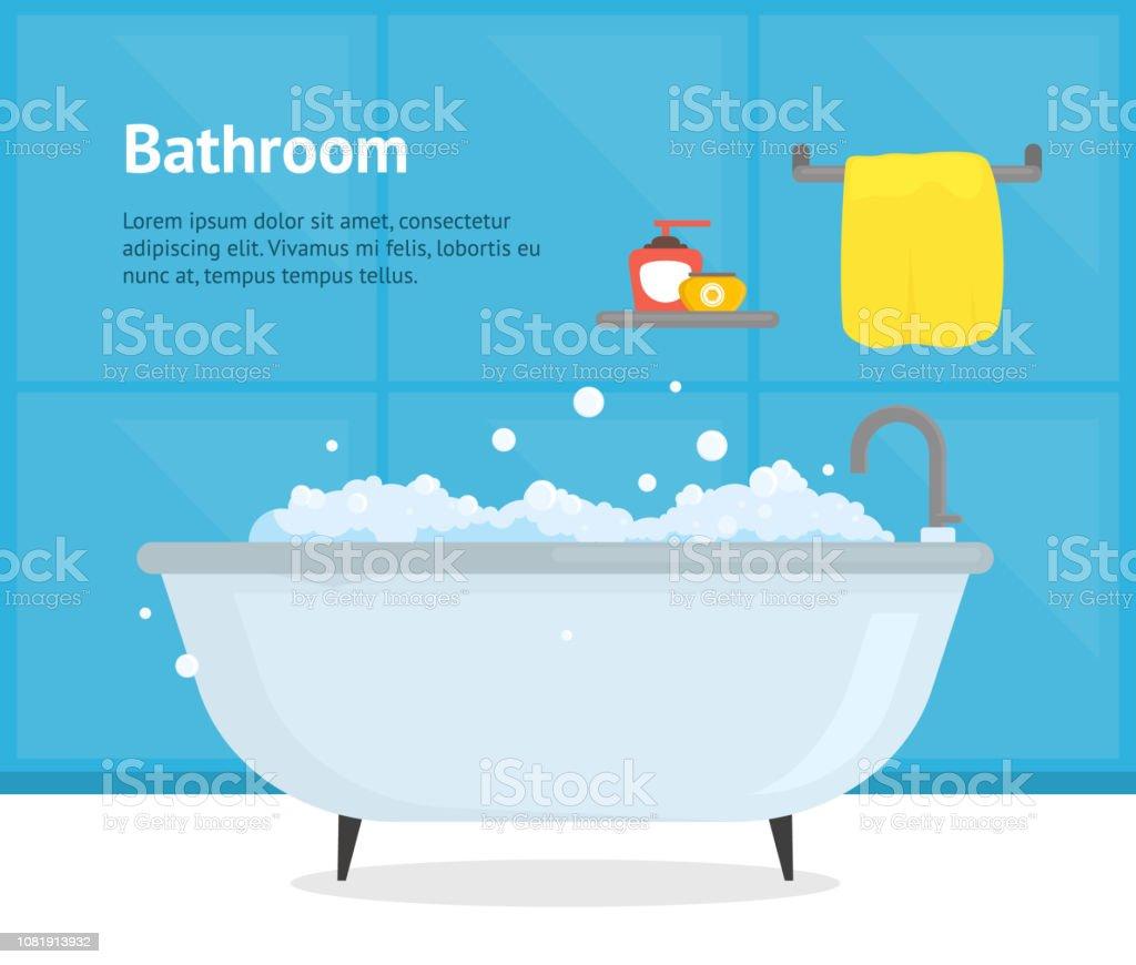 Dessin Salle De Bain dessin animé salle de bain baignoire À lintérieur de cartes