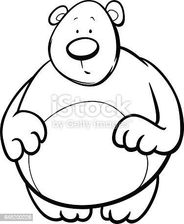 boz the bear coloring pages | Çizgi Film Ayı Boyama Sayfası Stok Vektör Sanatı ...